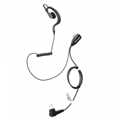 G Shape Earhook Earpiece Headset Mic  with coiled cable