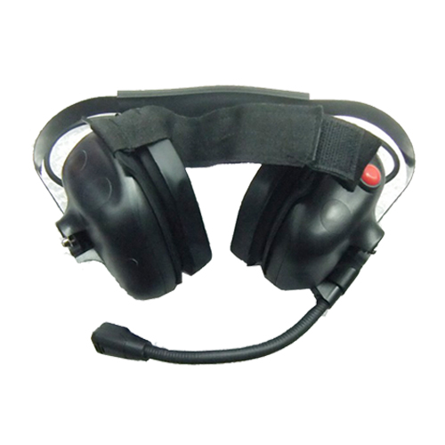 Neckband Headset with quick release PTT cable