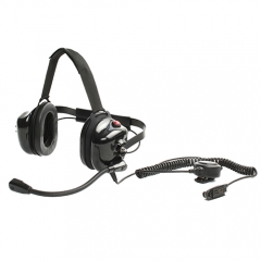 Neckband version work for helmet noise canceling headset with boom mic
